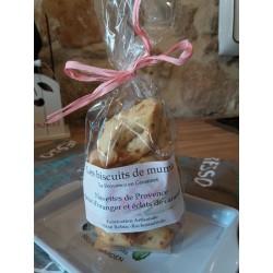 Navettes de Provence à la fleur d'oranger et aux éclats de caramel